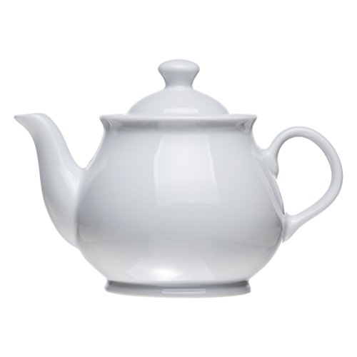 Teapot Classic White Porcelain (3 Size), Restaurant&Hotel Quality (20.2 oz) (Porcelain Classic White)