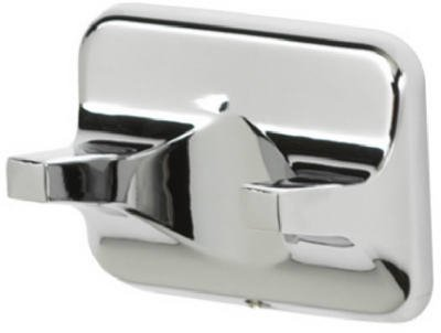 Homewerks Worldwide-Import 631913HP Basic Robe Hook, Double, Chrome - Quantity (Base Zinc Post Aluminum Tube)