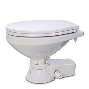 - Jabsco 37245-3092 Quiet Flush Electric Marine Toilet Pump Compact Bowl 12 Volt Boating Head