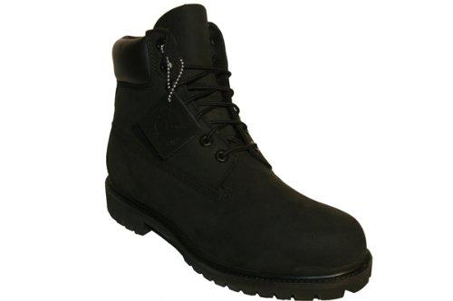 Timberland Mens 6 Inch Premium Waterproof Boot  Black Nubuck  8 M Us