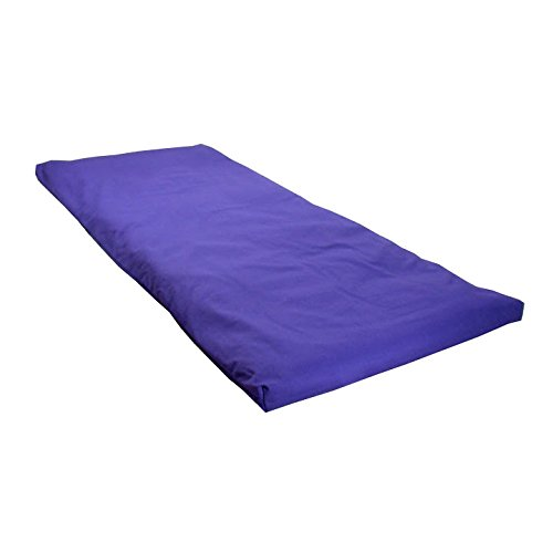 Futon Cover Royal Twill - Royal Blue Cotton Yoga Mat - Futon Style Mat with Removable Cotton Twill Cover