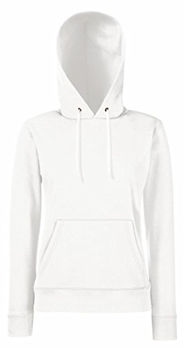 Fruit of the Loom Damen Lady-Fit Hooded Sweat 62-038-0 White XS