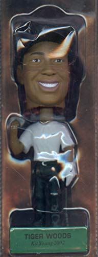 (2002 Hawaii Upper Deck Tiger Woods Bobble Head Doll 345047 Kit Young Cards )