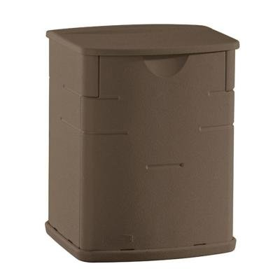 Rubbermaid Deck Storage Box, Mocha, 2.6 Cubic Feet (1828823) (Grill Accessory Storage compare prices)