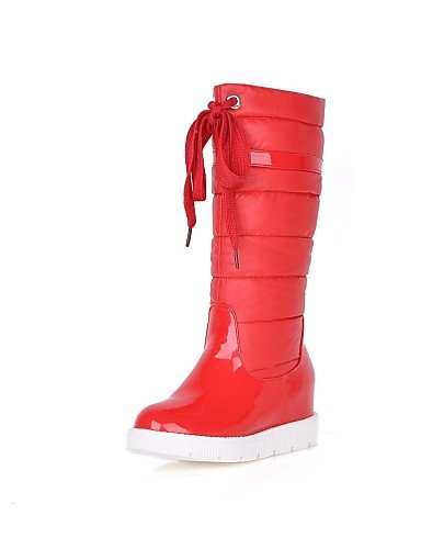 Patentado Punta us9 Casual Uk8 Plataforma Cuero A Eu42 Redonda Cn41 Zapatos Uk7 La Nieve De Red Eu40 Red Vestido us10 Botas Cn43 Semicuero 5 5 Mujer Moda Xzz 7Yq6Swn