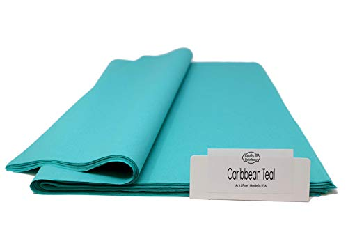 Caribbean Teal - 96 Sheets - Gift Wrapping Tissue Paper 15