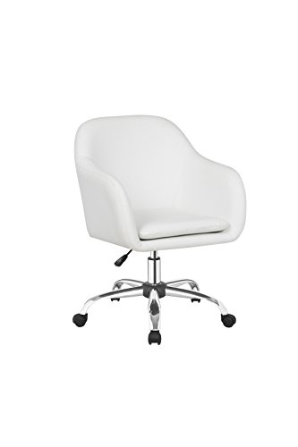IDS Office Selection MLM-18639-W White Home Office Desk Swivel Chair,