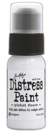Ranger Tim Holtz Distress Paint Bottle, 1-Ounce, Picket Fence Paint Picket Fence