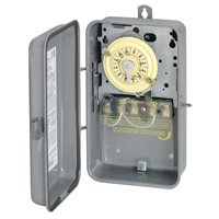 Intermatic Timer, 208277V DPST 24Hour Mechanical Time Switch