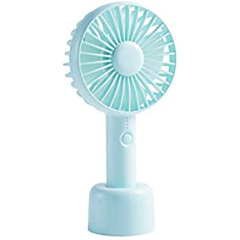 Insten Mini Portable Handheld USB Cooling Fan With Removable Aroma Diffuser, Desk Table Fan with Stand Base, Rechargeable Battery for Traveling, Music Festival, Preventing from Heat Stroke, Light Blue