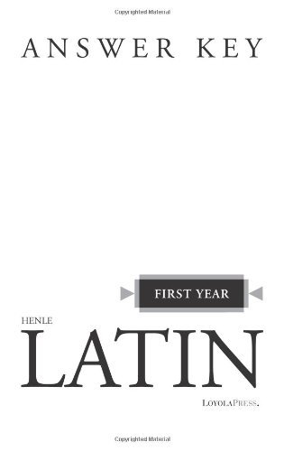Henle Latin First Year Answer Key
