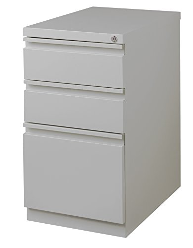 Office Dimensions 20'' Mobile File Cabinet w/ Full Width Handle - Drawers (2 storage, 1 file) by Office Dimensions