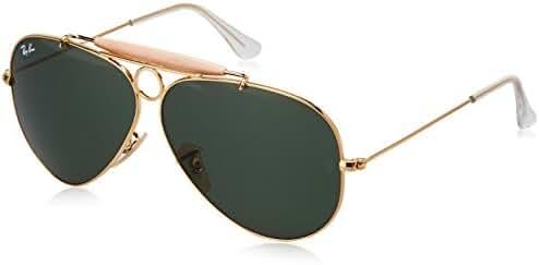 Ray-Ban Women's Oversized Polarized Aviator Sunglasses