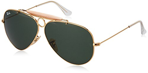 efebe0c993d835 Amazon.com  Ray-Ban Aviator Classic, Black, 58 mm  Ray-Ban  Clothing