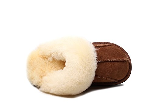 Super De Moelleux Peau En Durable Antidérapant Chaussons Warmie Extra Australien Daim Épais Mouton Qualité Et Supérieure xIZ41