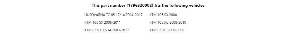Fits 2017 Tusk Kick Starter Anodized Orange Husqvarna TC 85 2014