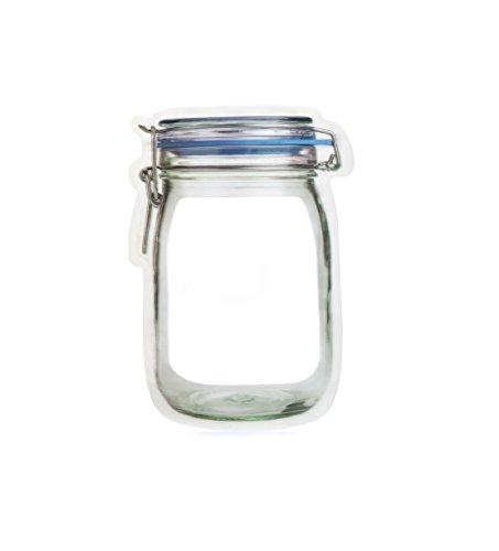 Zipper Mason Jar Reusable Storage Bag - Large Set of 2