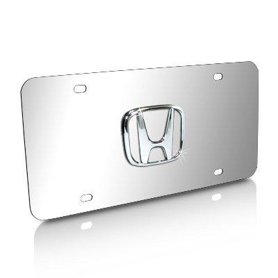 Honda 3D Logo Chrome Steel License ()