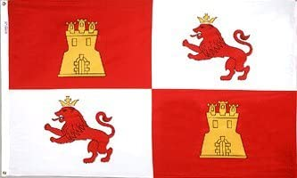 3 x5 bandera española de Castilla y León, España Bandera: Amazon.es: Jardín
