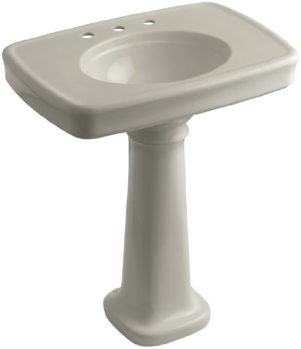 8 G9 Pedestal (KOHLER K-2347-8-G9 Bancroft Pedestal Bathroom Sink with Centers for 8