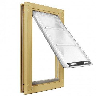 Endura Flap Large Door Mount - Tan Single Flap 10'' x 19'' pet door