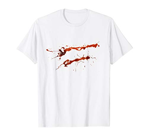 Bloody Shirt Halloween Murderer Killer Costume Tee -