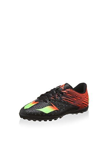 adidas Messi 15.4 Tf J, Botas de Fútbol Unisex Bebé Negro / Rojo