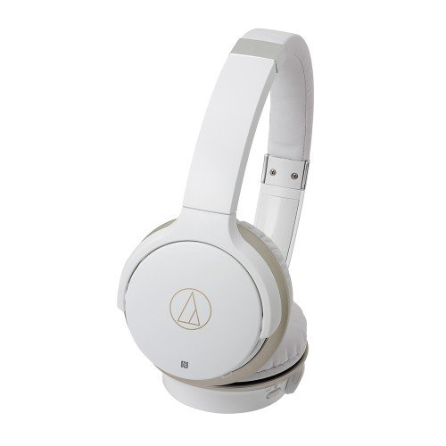 Audio-Technica ATH-AR3BTWH SonicFuel Wireless On-Ear Headphones with Mic & Control, White