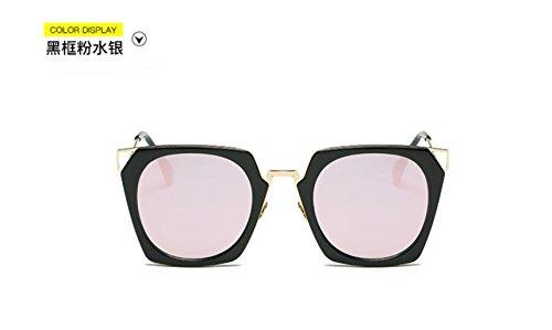Black gafas de personalidad powder sol color sol moda gafas Square GLSYJ la en la mercury películas LSHGYJ las de gafas box gwnqT1tx