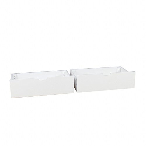 Max & Lily Solid Wood Under Bed Storage Drawers, White