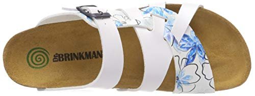Bleu Wei Damen Pantolette Wei Dr 3 Brinkmann 701154 18q7CCxTw