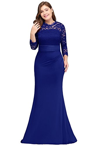 Womens Plus Size Long Evening Dresses Mermaid Prom Gown