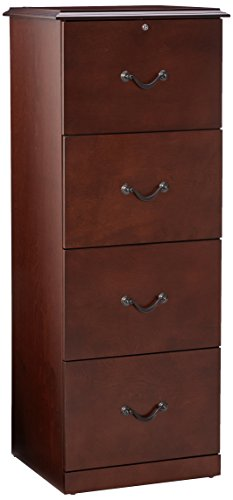 Z-Line Designs 4-Drawer Vertical File Cabinet, Cherry by Z-Line Designs