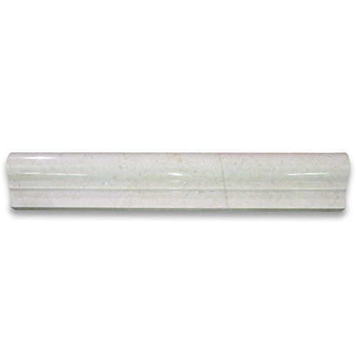 Crema Marfil Spanish Marble Chair Rail Bullnose Trim Molding 2 x 12 Polished -