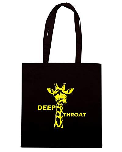 Speed Shirt Borsa Shopper Nera FUN1167 DEEP THROAT