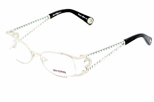 TRUE RELIGION Ashley Eyeglasses Shiny Silver Optical Frames: Amazon ...