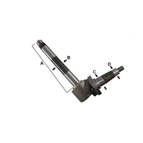 196334C2 Spindle-Splined Shaft for Case/International Harvester 1026, 1066, 1086