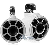Wet Sounds Revolution Series 8 inch EFG HLCD Tower Speakers - White w/ Swivel Clamp