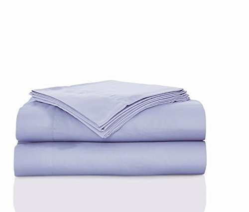 MK Home Mk Collection Premier Hotel Select 4 Pc Sheet Set 100% Cotton 300 TC Solid Color New (California King, Lilac)