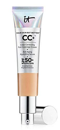 Makeup Pale Skin - It Cosmetics Your Skin but Better CC Cream with SPF 50 Plus (Medium) - 1.08 Ounces