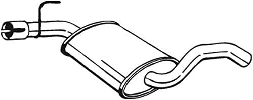 Mittelschalld/ämpfer 1220-2447 D/ämpfer Abgasanlage