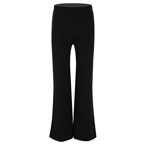 Capri Rumba Outfit - ranrann Kids Boys Jazz Dance Basic Classic Black Stretchy Boot Cut Pants Dancewear Trousers Black 8