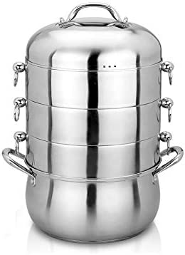 WALNUTA Cooking Steamer Pot Kitchen Utensil Steaming Double Boilers Cookware Stew Pot Double Boilers