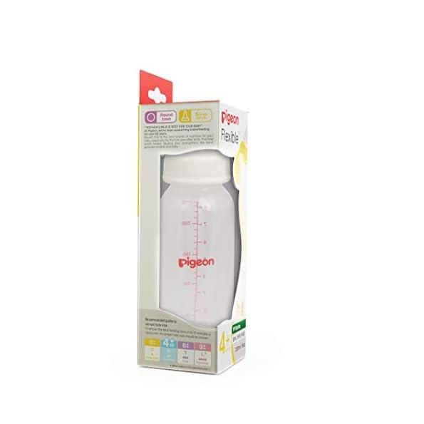 Pigeon-Peristaltic-Nursing-Bottle-Rpp-240MlWhite-Nipple-M-Transparent-one-Size-88096