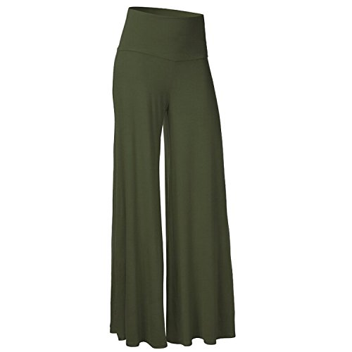 Ladies Decent Flowy Flare Wide Leg Palazzos High Waisted Flared Lounge Pants for Women