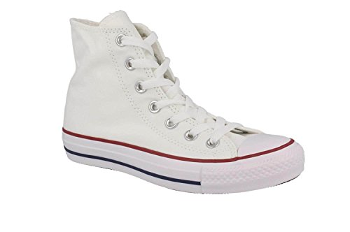 Converse Unisex Chuck Taylor All-Star High-Top Casual Sneakers in Classic Style and Color and Durable Canvas Uppers Unbleached White