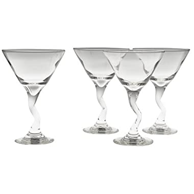 Libbey 4-Piece Z-Stem Martini Set
