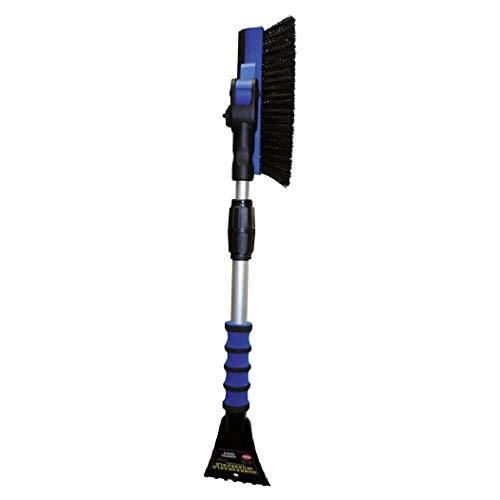 Petex 46020000 garde/ijskrabber 4602 met rubberen lip, bezem 90° draaibaar, telescoopstang, verschillende kleuren