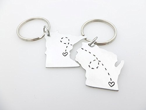 custom-state-keychains-matching-set-country-usa-long-distance-love-long-distance-gift-for-him-and-he