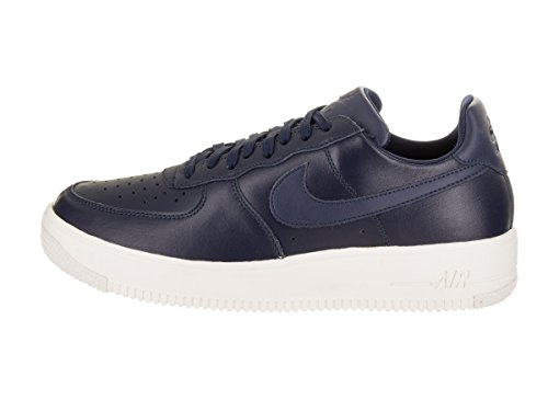 Nike Mens Air Force 1 Scarpe Da Basket In Pelle Ultraforce Blu Notte